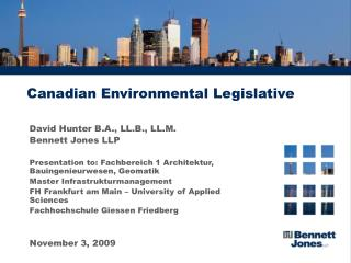 Canadian Environmental Legislative