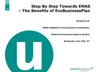 Step By Step Towards EMAS    The Benefits of EcoBusinessPlan