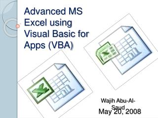Advanced MS Excel using Visual Basic for Apps VBA