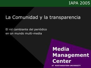 La Comunidad y la transparencia