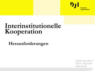 Interinstitutionelle Kooperation