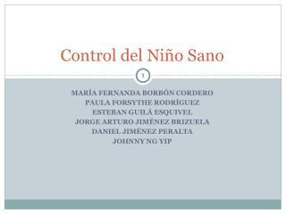 Control del Ni o Sano