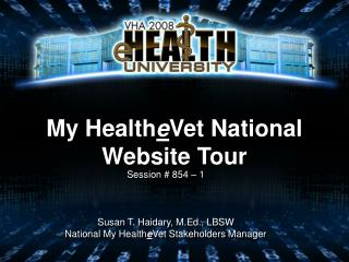My HealtheVet National Website Tour