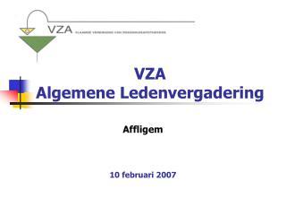 VZA Algemene Ledenvergadering