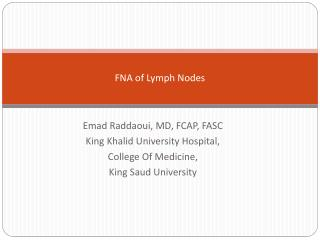 FNA of Lymph Nodes