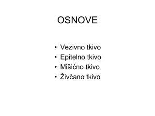 OSNOVE