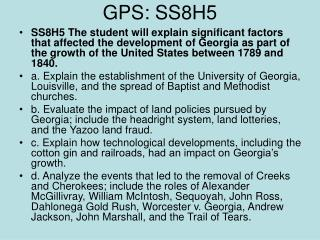 GPS: SS8H5