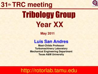 Tribology Group  Year XX