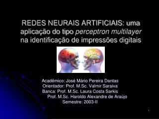 REDES NEURAIS ARTIFICIAIS: uma aplica  o do tipo perceptron multilayer na identifica  o de impress es digitais