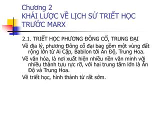 Chuong 2  KH I LUC V LCH S TRIT HC TRUC MARX