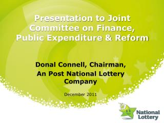 Presentation to Joint Committee on Finance, Public Expenditure  Reform