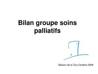 Bilan groupe soins palliatifs