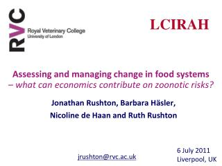 Assessing and managing change in food systems    what can economics contribute on zoonotic risks