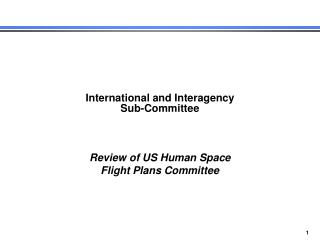 International and Interagency Sub-Committee