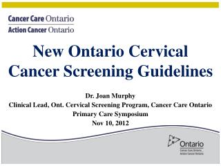 New Ontario Cervical Cancer Screening Guidelines
