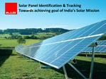 Rfid solution for solar panels