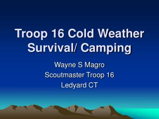 Troop 16 Cold Weather Survival