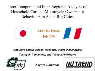 Inter-Temporal and Inter-Regional Analysis of Household Car and Motorcycle Ownership Behaviours in Asian Big Cities