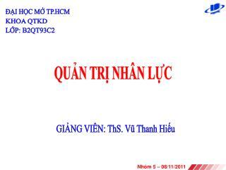 QUN TR NH N LC