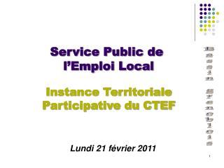 Service Public de  l Emploi Local
