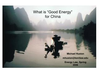 Good Energy in China