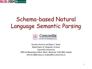 Schema-based Natural Language Semantic Parsing