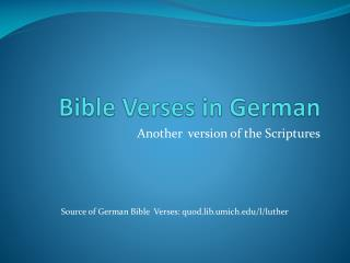 Bible Verses in German