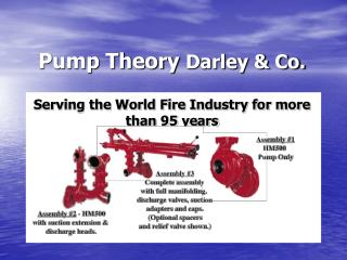 Pump Theory Darley  Co.  Serving the World Fire Industry for more than 95 years