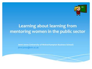 Learning about learning from mentoring women in the public sector