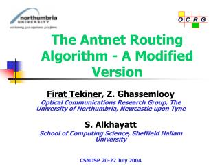The Antnet Routing Algorithm - A Modified Version