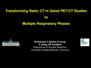 Transforming Static CT in Gated PET