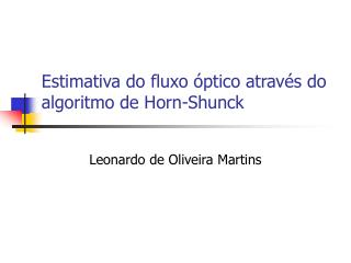 Estimativa do fluxo  ptico atrav s do algoritmo de Horn-Shunck
