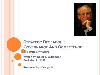 Strategy Research: Governance And Competence Perspectives