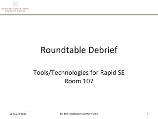 Roundtable Debrief