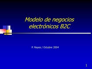 Modelo de negocios electr nicos B2C
