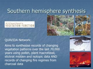 Southern hemisphere synthesis