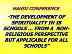 HANOI CONFERENCE