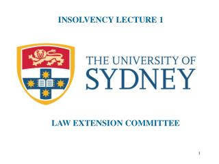 INSOLVENCY LECTURE 1