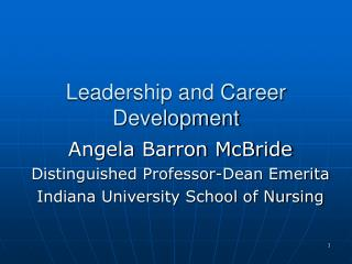 Leadership and Career Development