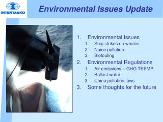 Environmental Issues Update