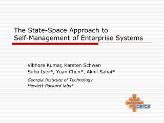 The State-Space Approach to  Self-Management of Enterprise Systems