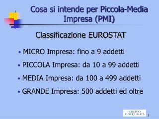 Cosa si intende per Piccola-Media Impresa PMI