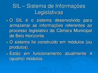 SIL   Sistema de Informa  es Legislativas