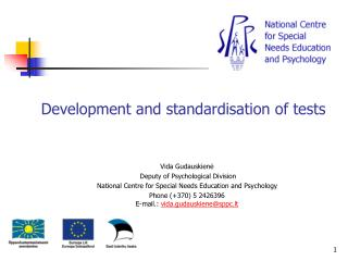 Development and standardisation of tests