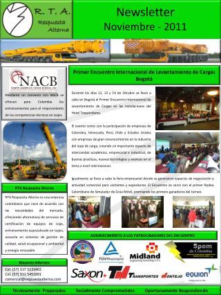 Mediante un convenio con NACB se ofrecen para Colombia los entrenamientos para el mejoramiento de las competencias t cni