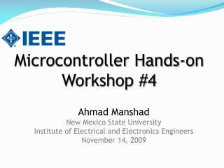 Microcontroller Hands-on Workshop 4