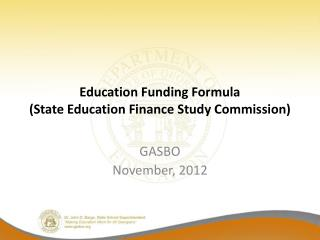 Education Funding Formula State Education Finance Study Commission