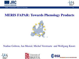 MERIS FAPAR: Towards Phenology Products