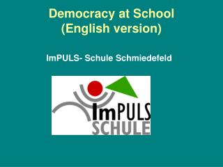Democracy at School  English version