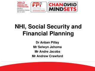 NHI, Social Security and Financial Planning